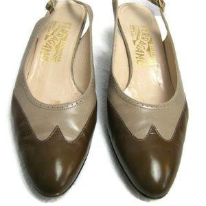 Salvatore Ferragamo Sling Ankle Strap Pump Shoes